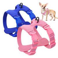Arnés de perro para perros peque?os Chihuahua yorkkie Ajustable de cuero suave mascota cachorro arnés chaleco Rosa Petshop