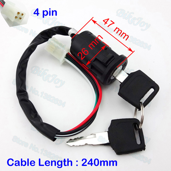 Ignition key switch lock 4 wire for 50cc 70cc 90cc 110cc 125cc 140cc ignition key switch lock 4 wire for 50cc 70cc 90cc 110cc 125cc 140cc sdg ycf gpx ssr crf dirt pit bike atv quad go kart in motorcycle switches from freerunsca Image collections