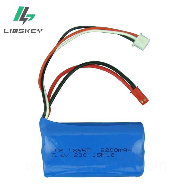 <font><b>7.4v</b></font> <font><b>2200mAH</b></font> 18650 20C remote control airplane remote control helicopter 7.4 V 2200 mAH lithium <font><b>battery</b></font> Wholesale image