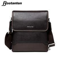Bostanten First Layer Cow Genuine Leather Men Messenger Bag Business Brand Design Real Leather Crossbody Handbag