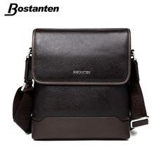 Bostanten 2016 New Cow Genuine Leather Men Messenger Bag Business Brand Designer Real Leather Crossbody Handbag Travel Man Bag