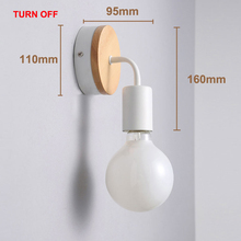 Modern Wooden Lighting Wall Lamp Bedroom kitchen Mirror Light Cabinet