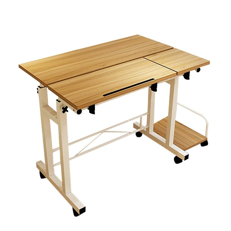 Imagen de Simple Lifting Mobile Notebook Desktop Computer Desk Folding Adjustable Laptop Table Student Learning Desk Office Computer Table
