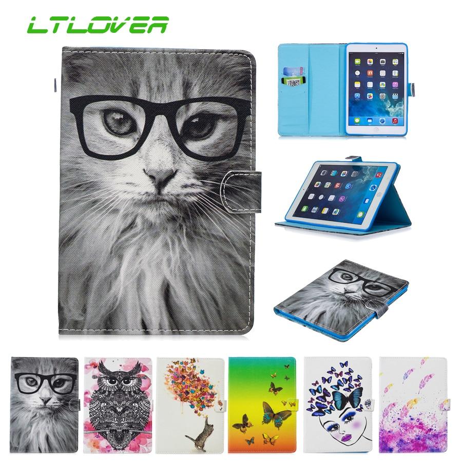 For iPad Mini 1 2 3 Fashion Painted Flip PU Leather Smart Auto Sleep Wake Up Tablet Case For iPad Mini 3 2 1 7.9 inch A1489 1455