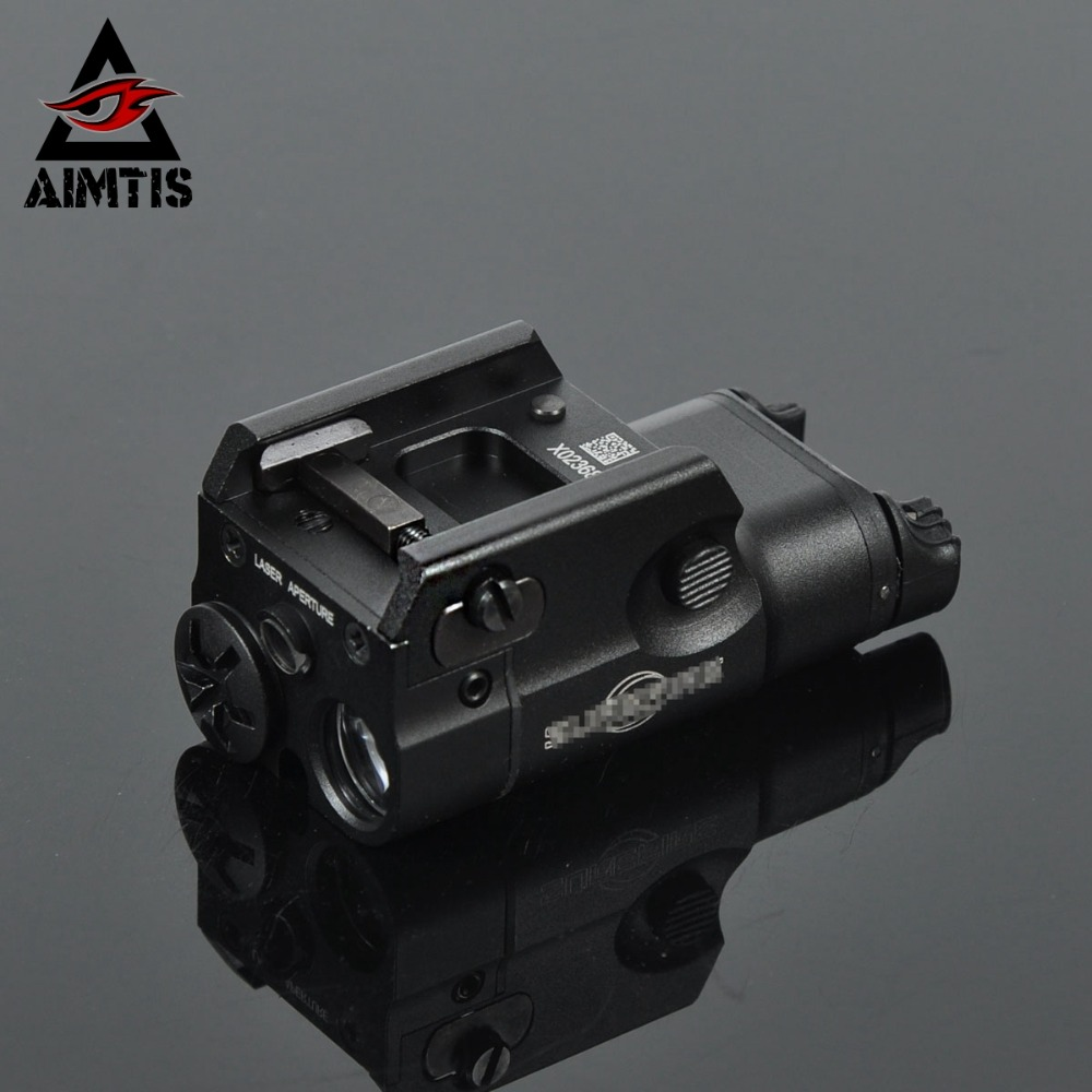 AIMTIS XC2 Laser Light Compact Pistol Flashlight With Red Dot Laser Tactical LED MINI White Light 200 Lumens Airsoft Flashlight jm pj7002 outdoor camping flashlight 200 lumens