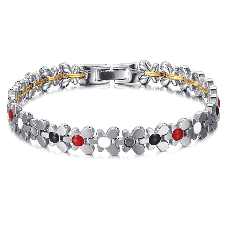 Stainless Steel Magnetic Power Bracelets (11)