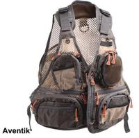 Aventik Super Light Adjustable Mesh Fabric Fishing Vest General Size Multi Function With Mutil-Pocket Outdoor Fly Fish