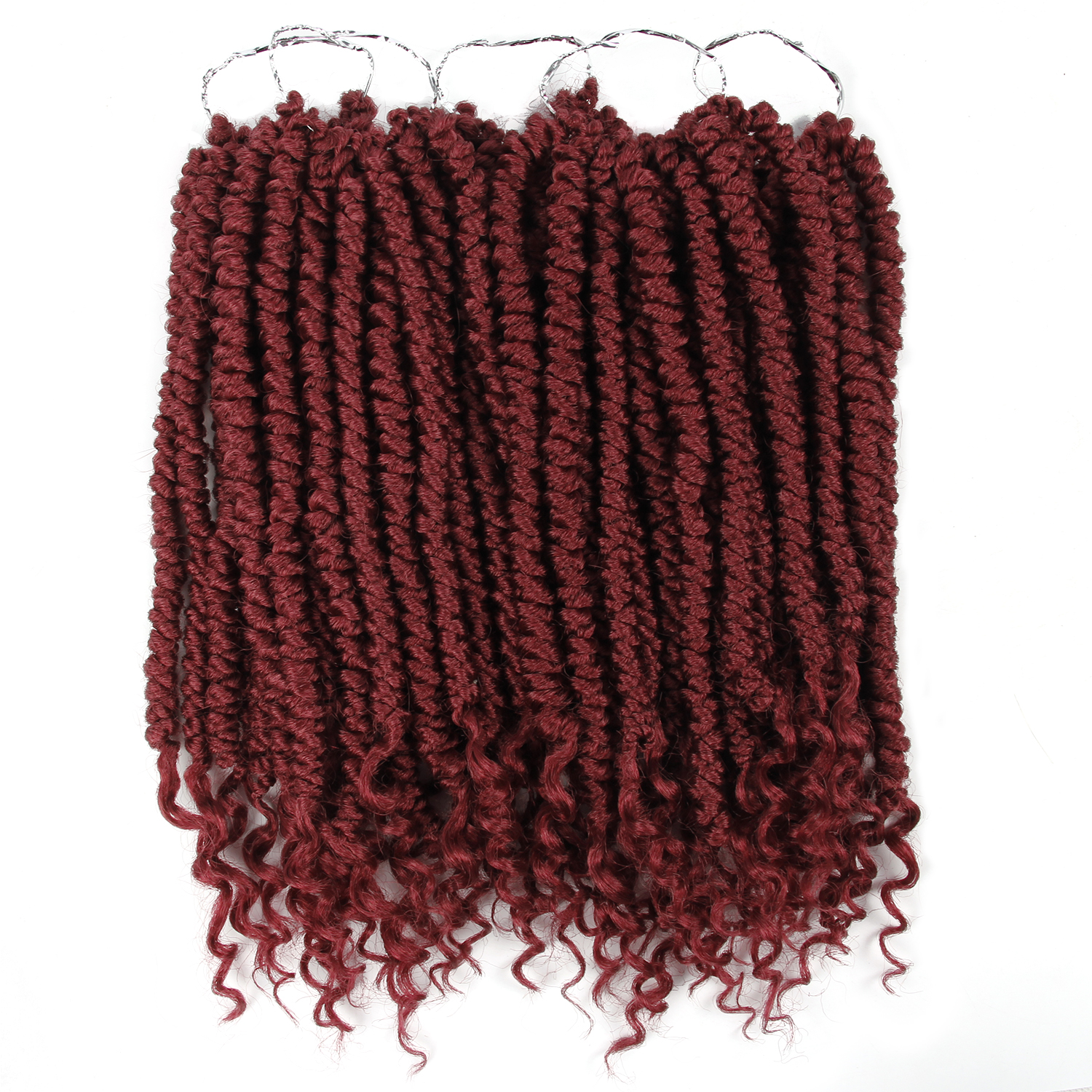 Curly Senegalese Twist Crochet Braid 14inch 12 Roots/pack 55g Ombre Synthetic Braiding Hair Extensions