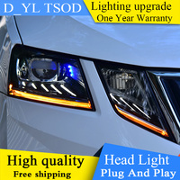 DY_L Car Styling Head Lamp for Skoda 2018 Octavia Headlights LED Headlight DRL Bi Xenon Lens Automobile Accessories