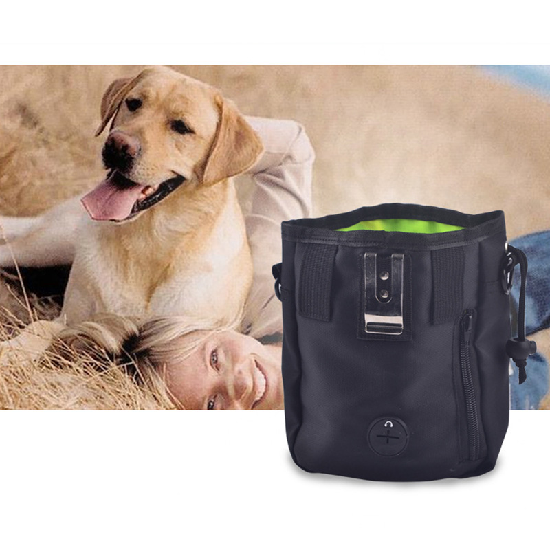 Portable Outdoor Pet Dog Treat Pouch Dog Training Treat Bags Pet Feed Storage Pouch Puppy Waterproof Snack Reward Waist Bag
