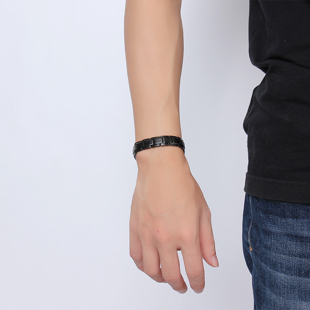 Health Magnetic Bracelet Black Stainless