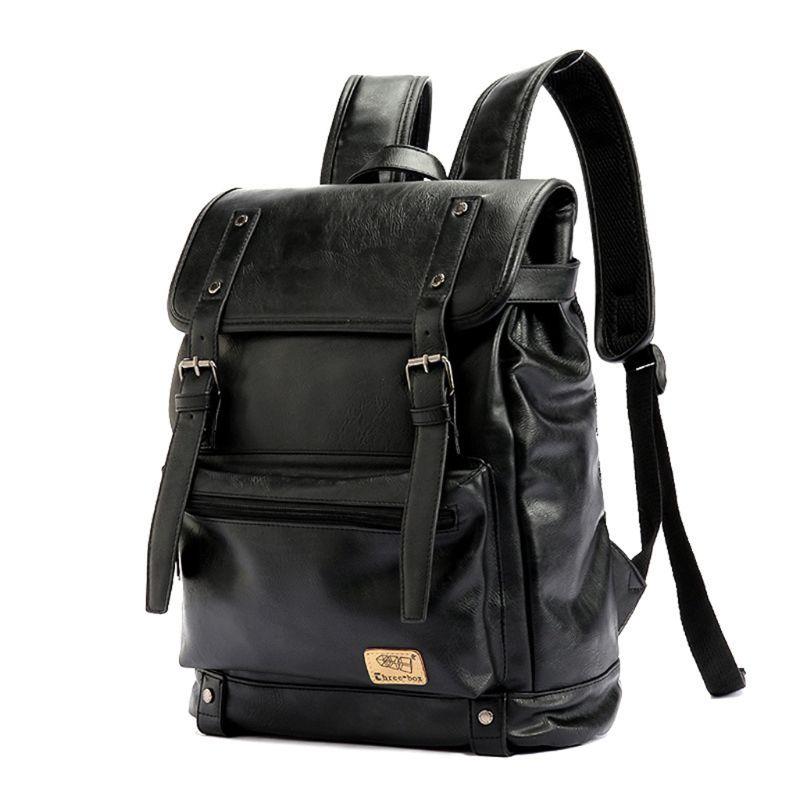 Retro PU Leather Backpacks Outdoor Travel Rucksack School Shoulder Bag Laptop Bookbag for MenRetro PU Leather Backpacks Outdoor Travel Rucksack School Shoulder Bag Laptop Bookbag for Men