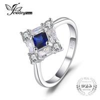 JewelryPalace Achthoekige 1ct Blauwe Saffieren Ring Echt 925 Sterling Zilver Mooie Vinger Ring Nieuwe Gift Voor Vrouwen 2018 Hot Salling