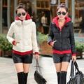 Winter Jacket Women New Wadded Cotton Short Jacket Fashion 2017 Girls Padded Slim Plus Size Hooded Parkas Coat Outwear MZ929
