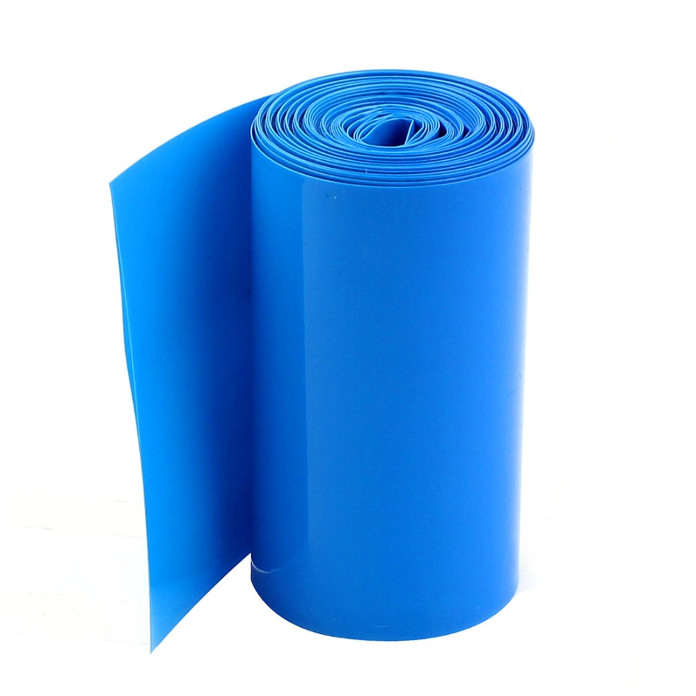 5 метров 85 мм Ширина ПВХ термоусадочная Обёрточная бумага трубка Синий для 18650 Батарея pack аксессуары