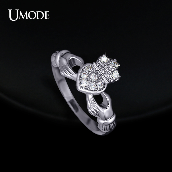 UMODE Love Heart Design Crown Hand Heart Clah Duh Claddagh Rings