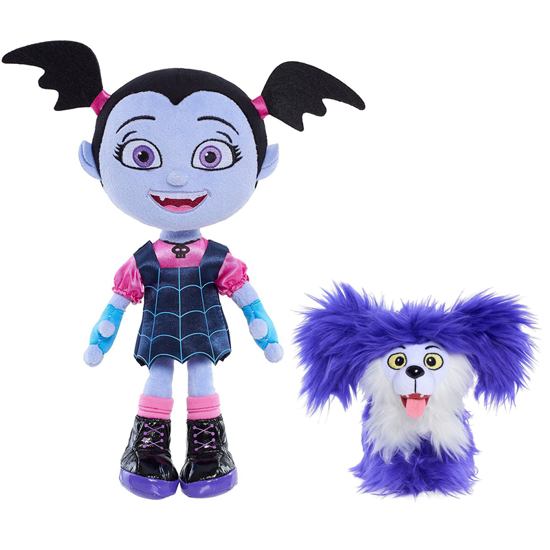 2pcs/lot Junior Vampirina Stuffed Plush Doll 14-25cm Cartoon The Vamp Batwoman Girl Dogs Figure Toys Boys Girls Kids Party Gift hot 9pcs lot anime junior vampirina the vamp batwoman girl action toy figure pvc model toys for kids christmas birthday gift hot