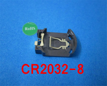 (100pcs/lot)CR2032-8 SMD(Gilt)Battery Button Cell Holder Socket,retail+wholesale.