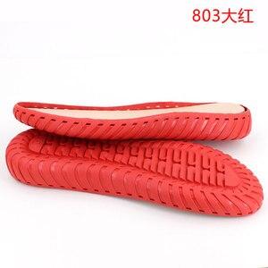 Image 3 - Hand gebreide haak zolen holle draad schoenen kristal onderkant pees onderkant haak schoenen transparante smaakloos non slip zolen