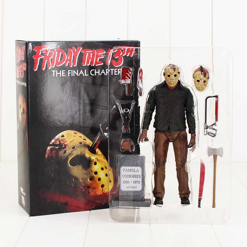 NECA Friday the 13th The Final Chapter Jason Voorhees PVC Action Figure Collectible Model Toy 19CM neca the texas chainsaw massacre pvc action figure collectible model toy 18cm kt3703