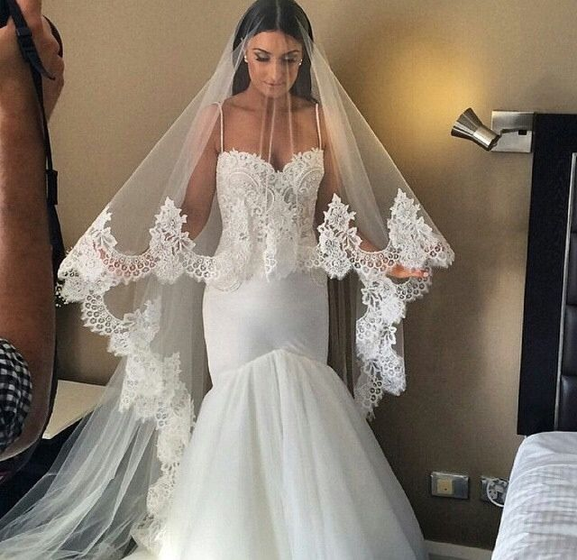 Aliexpress.com : Buy Spaghetti Straps Mermaid Wedding Dress ...