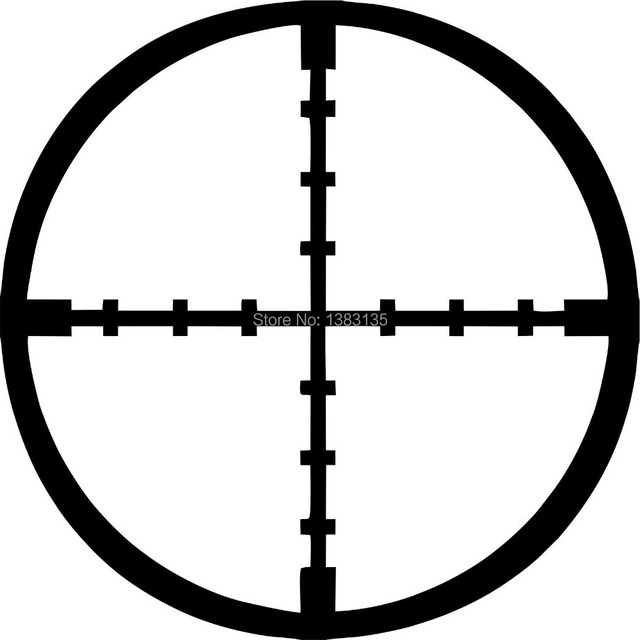 Scope Crosshairs Car Window Sticker Vinyl Decal Funny Jdm And All