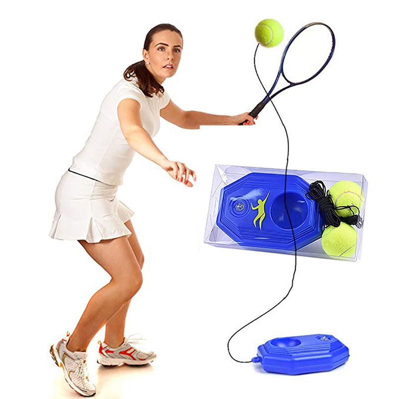 Tennis Supplies Tennis Training Aids Ball Trainer Self-study Baseboard Player Practice Tool Supply With Elastic Rope Base