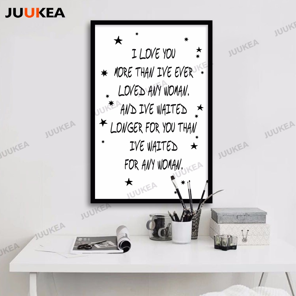 Love Quote Canvas Scandinavian Decor Love Quote Canvas Art Print Painting Poster A4