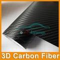 Free shipp New 127*30CM Waterproof DIY 3D Car Sticker Car Styling Car Carbon Fiber Vinyl Wrapping Film With Black White