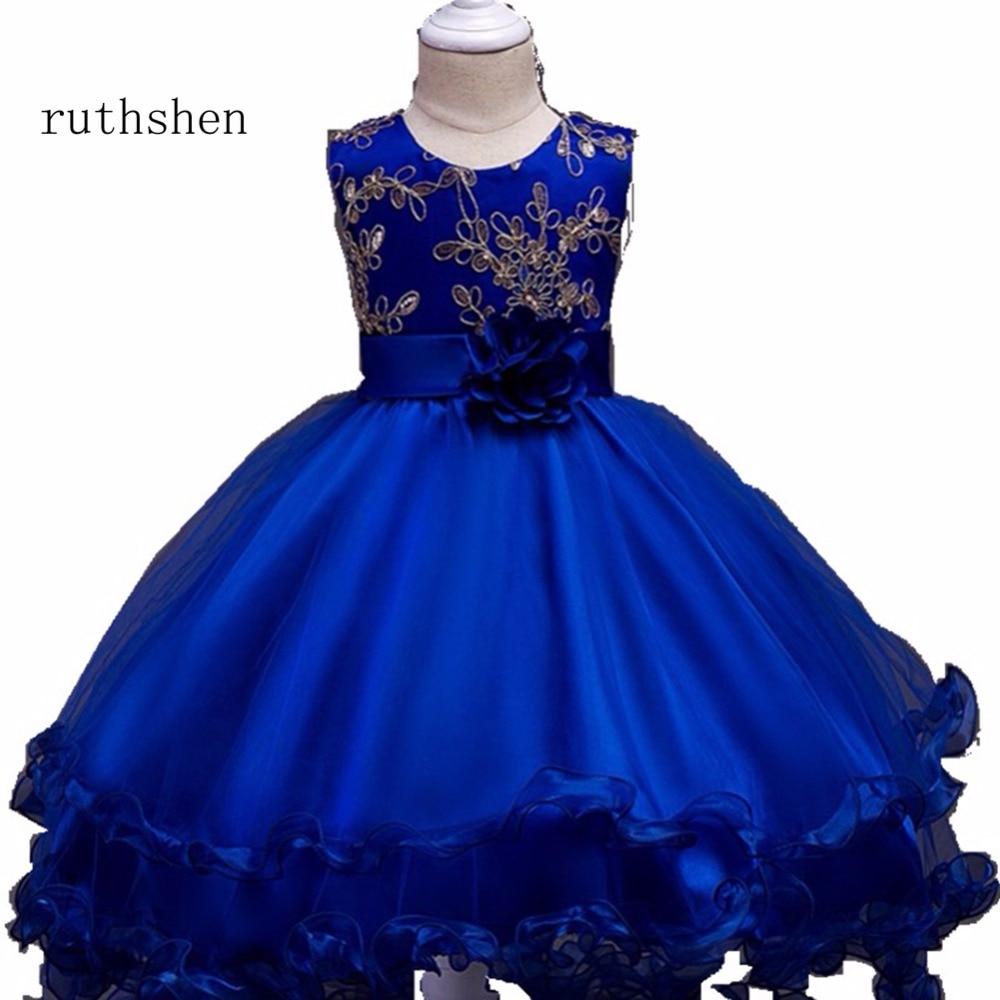 ruthshen The Latest   Flower     Girl     Dresses   Real Photo Princess   Flower     Girl     Dresses   Floral Floor-Length For 2-10   Girl   For Wedding