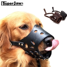 Adjustable Dog Prevention Bite Masks Anti Bark Mesh Soft Mouth Muzzle Grooming Chew Stop For Small Large Collar Leash MDL07