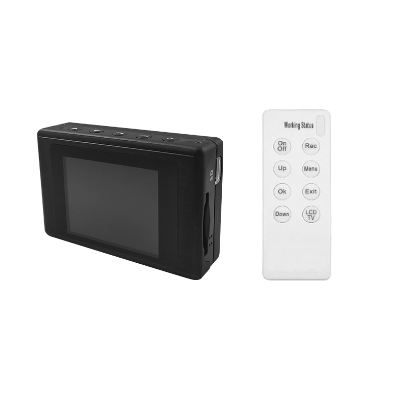 Wearable Mobile Mini DVR Video Recorder Built In 2.4 LCD Screen With 2.4G Hz Wireless Control For Video Surveillance SystemsWearable Mobile Mini DVR Video Recorder Built In 2.4 LCD Screen With 2.4G Hz Wireless Control For Video Surveillance Systems