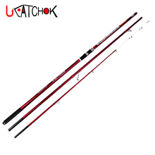 wholesale 2pcs/pack 4.2M 3sections Superhard carbon fiber surfcasting rod distance throwing surf carp fishing