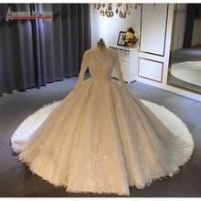 Abendkleider 2020 ใหม่มุสลิมชุดแต่งงานชุดบอลชุด Amanda novias real Photo คุณภาพสูง