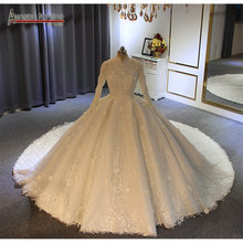 abendkleider 2020 New muslim wedding dress ball gown amanda novias real photo high quality
