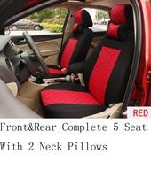Silk Material Embroidery Logo Car Cushion For Jeep Wrangler Patriot Cherokee Compass Grand Cherokee Commander 2Pillow