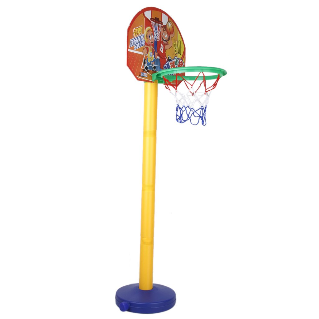 5Set Sale SODIAL(R)Toy Set Portable Basketball Basket Basketball Ball with Support