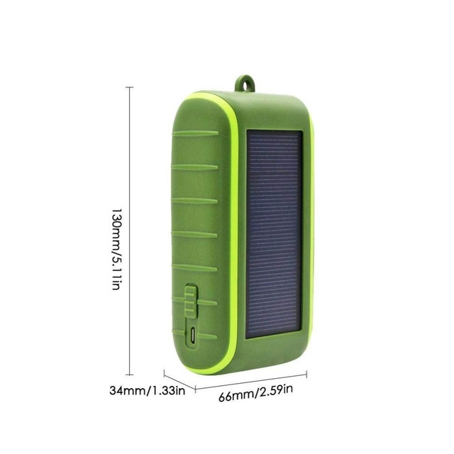 Hand Dynamo & Solar Energy Travel USB Charger portable external battery 6000mAh 8000mAh Power bank Manual Power Generation 5