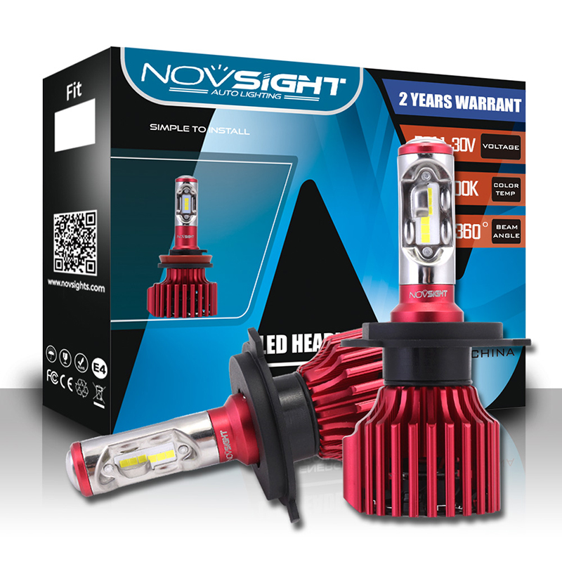 NIGHTEYE N6 2Pcs Automotive Headlamps LED Headlamps H1 H4 H7 H11 H13 H15 D1 9005 9006 9007 Headlight Bulbs 10000LM 60W 6000K