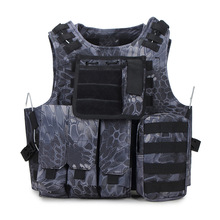 Men's Tactical Vest Military Unloading Airsoft Camo Vest Army Combat Molle Equipment Hunting Protection Camouflage Waistcoat