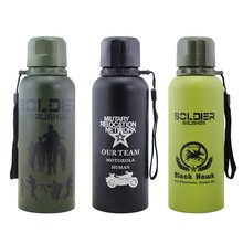 2016 my new Army Thermal insulation Water bottle 3 designs 450ml strong outdoor sport thermos bottle my bootl 1l large capacity thermos nordic thermal insulation kettle household thermal insulation pot glass liner thermos hot water bottle