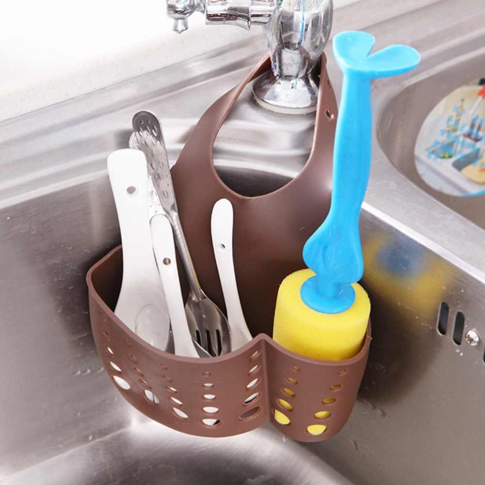 Estantería para fregadero de cocina portátil, bolsa para estantería, estante para platos, esponja de succión, soporte para drenaje, grifo, plato de jabón, 1 piezas, 4 colores