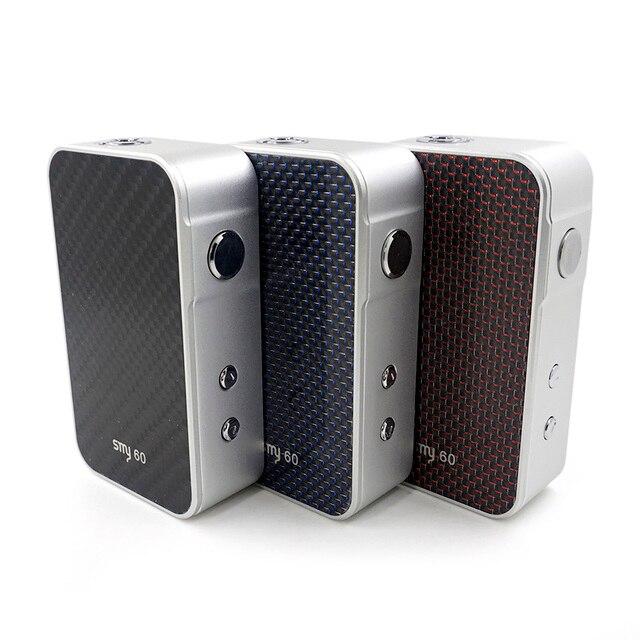 100% Оригинальные smy60 поле mod SMY 60 Вт mod 5-60 Вт мощность электронной сигареты механический мод Цвет ЖК-дисплей экран SMY 60 моды испаритель