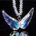 2016 кристаллов сваровски ангельские крылья украшения крылья любви заднего вида автомобиля кулон высококлассные подарки