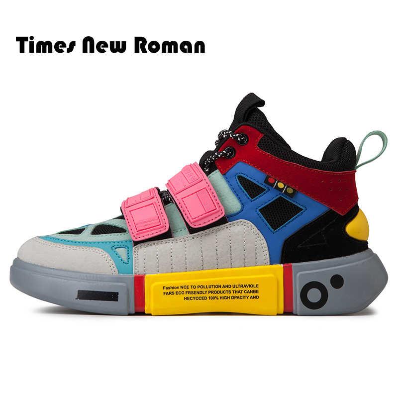 Times/Новинка; модная обувь в римском стиле, визуально увеличивающая рост; повседневная обувь для мужчин; сетчатые дышащие кроссовки на шнуровке и толстой подошве для мужчин; уличные кроссовки