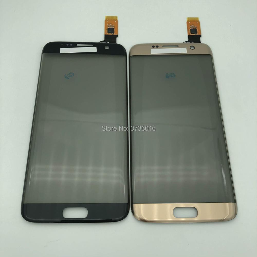 לוח מגע מסך Digitizer עבור samsung S7 קצה קדמי זכוכית חיישן עם מקטב החלפת חלקי תיקון טלפון נייד