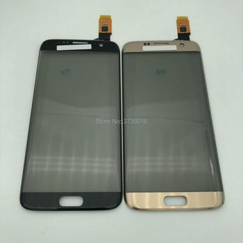 Panel táctil de digitalizador de pantalla táctil para samsung S7 borde frontal de vidrio Sensor con polarizador de piezas de repuesto para reparación de teléfonos móviles
