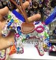 Horse rhinestone bag charms key chain charms, handmade bling gift handbag charms bling girl gift