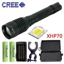 Chip Lamp Hunting Light Led Flashlight Torch Lens Convoy Litwod 18650 3200lm 2 Pcs Battery Tactical Cree Xhp70 Shock