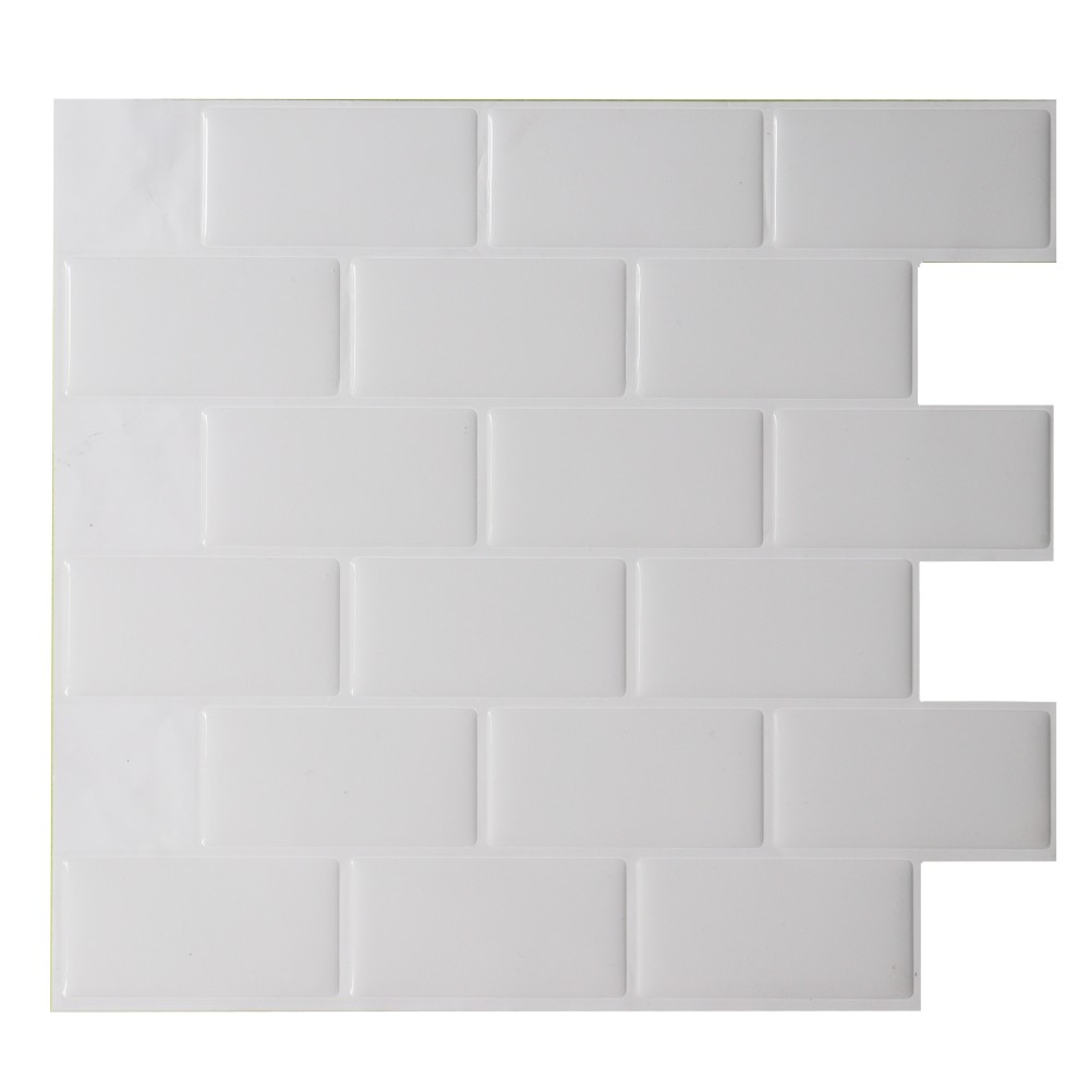 Vinyl Wall Sticker Art Home Brick pattern 3D Waterproof Oil-proof Durable